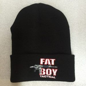 Fat Boy Knit Cap with Cuff, Black