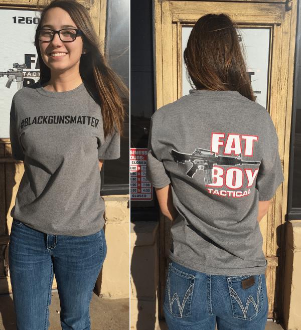 #blackgunsmatter T Shirt Gray, Adult 2X-Large