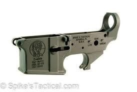 Spike's Zombie Lower Receiver, Stripped